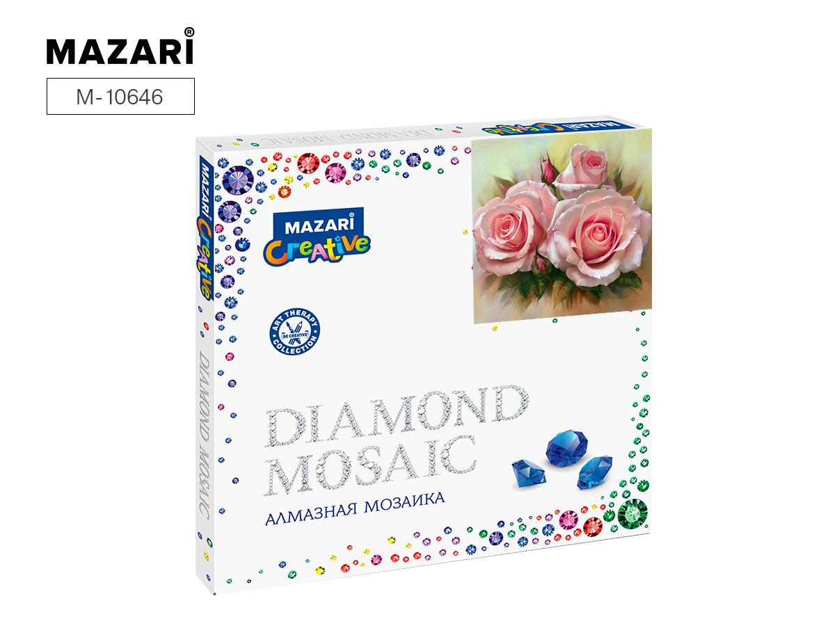Алмазная мозаика 30*30см Букет из роз частичная выкладка