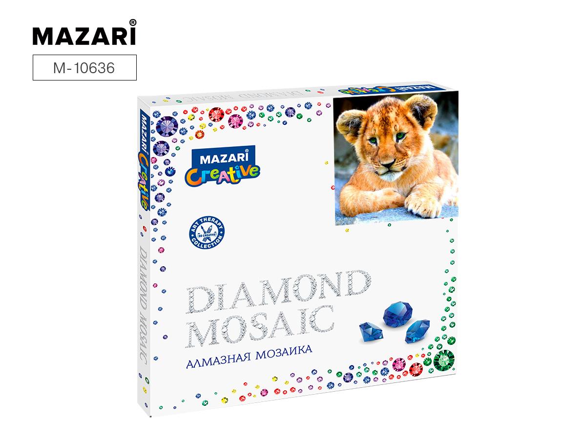 Алмазная мозаика 30*30см Львенок