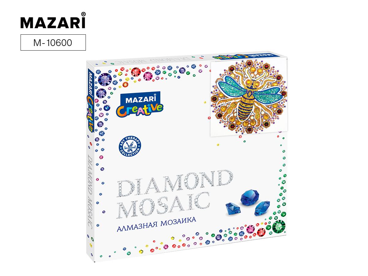 Алмазная мозаика 30*30см Орнамент с пчелой
