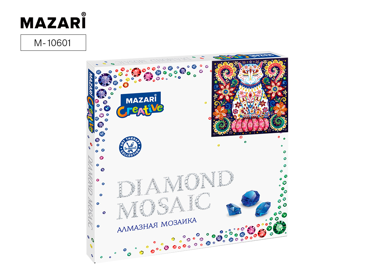Алмазная мозаика 30*30см Сказочный кот 3