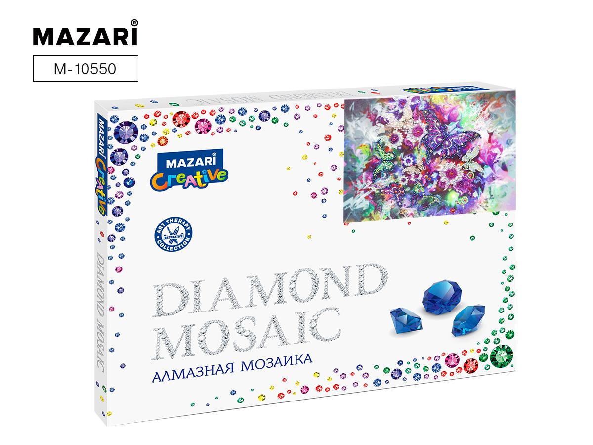 Алмазная мозаика 30*40см Бабочка и цветы