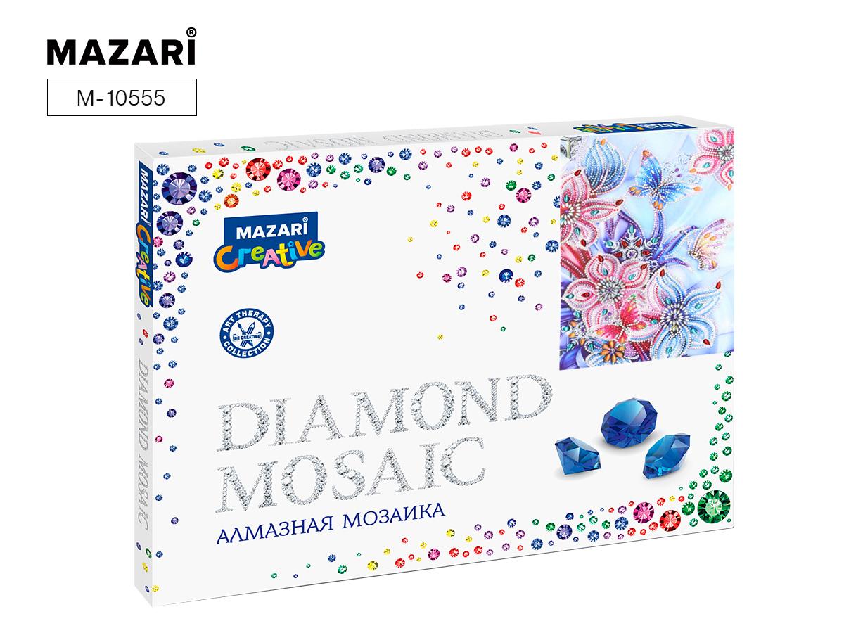 Алмазная мозаика 30*40см Бабочки и цветы