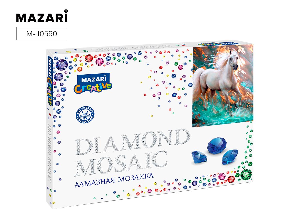 Алмазная мозаика рамка 30*40см Белый жеребец