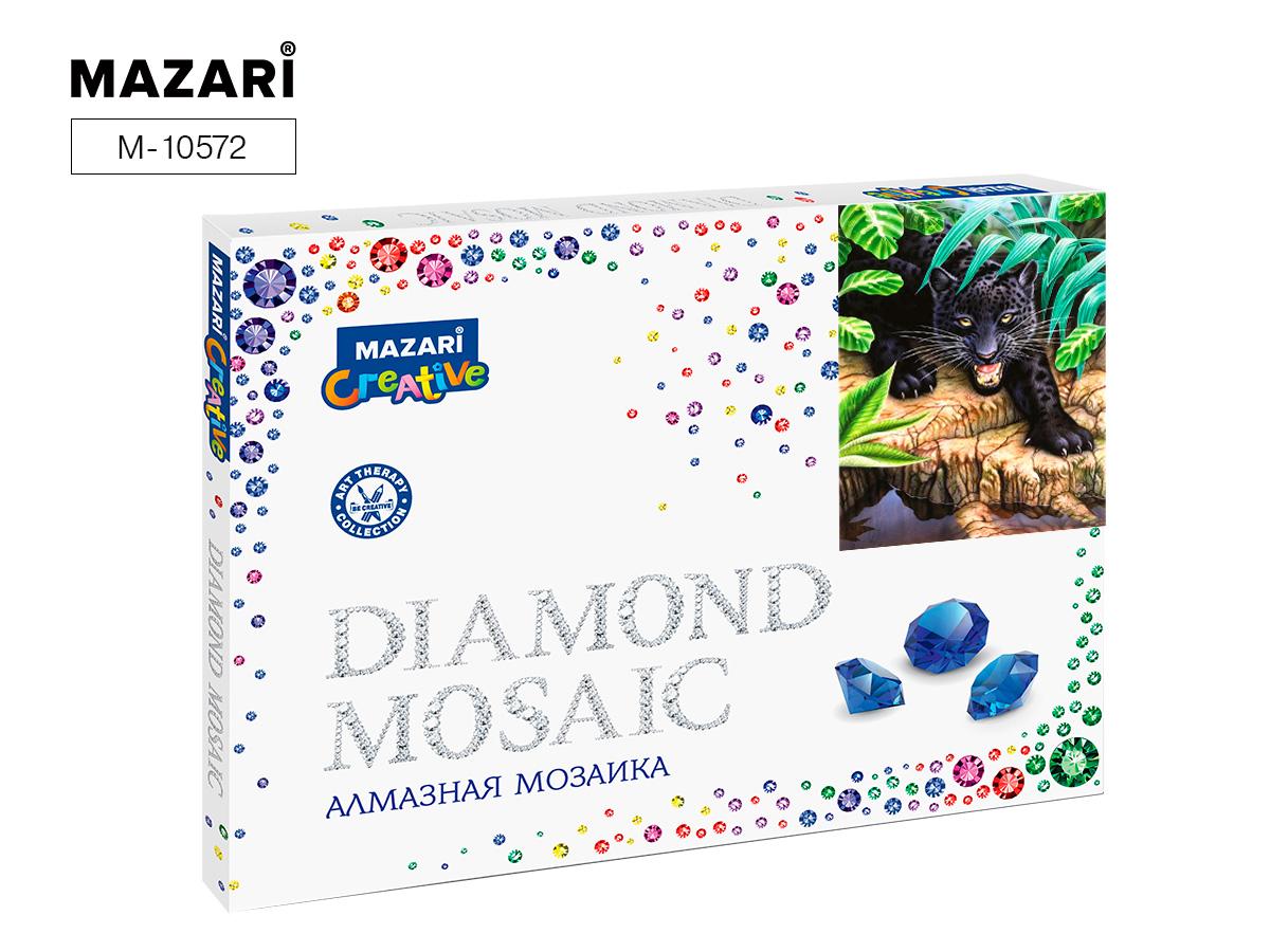 Алмазная мозаика рамка 30*40см Черная пантера
