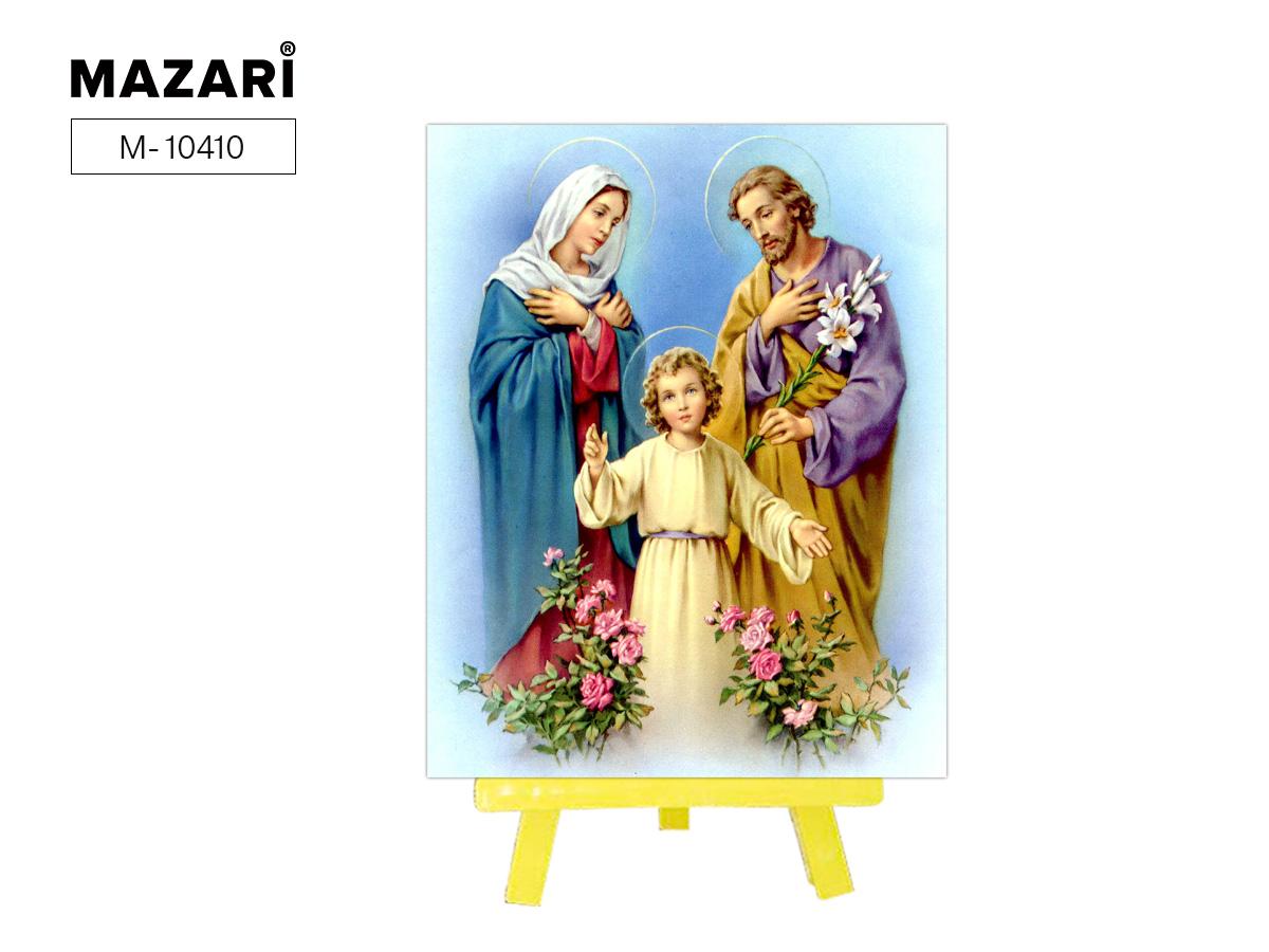Алмазная мозаика+мольберт 21*25см Святое семейство