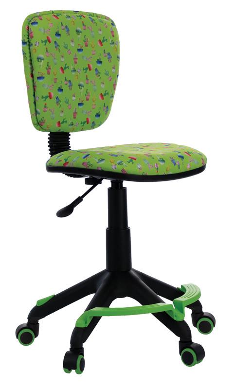 Кресло детское Бюрократ CH-204-F/CACTUS-GN Кактусы зеленый с подставкой для ног