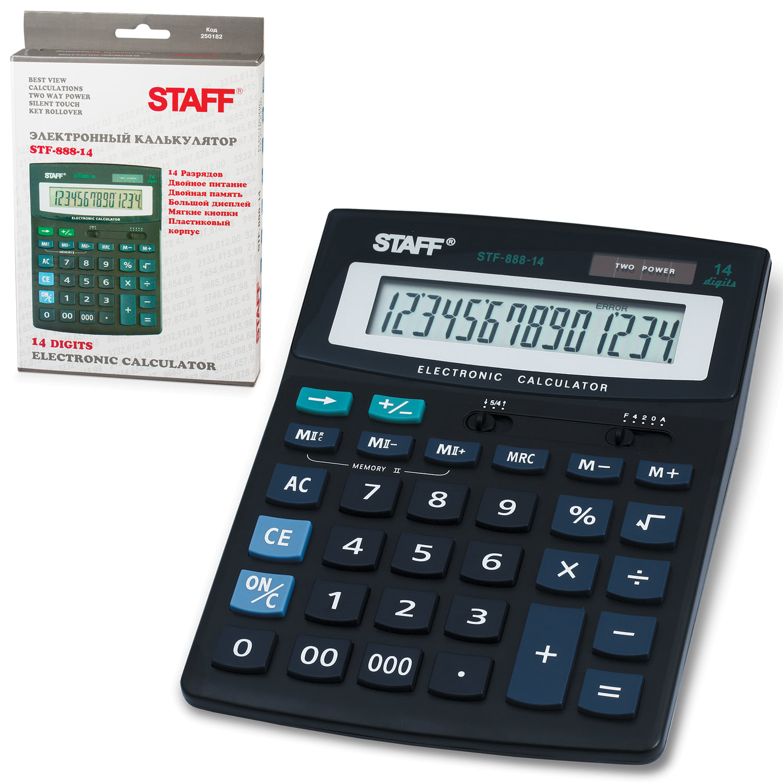 Калькулятор наст. Staff STF-888-14 дв.пит. 200х150мм