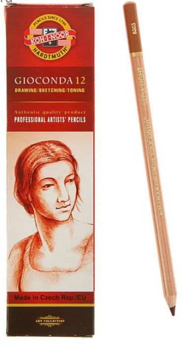 Сепия KOH-I-NOOR коричневая светлая Gioconda карандаш 175х7,5