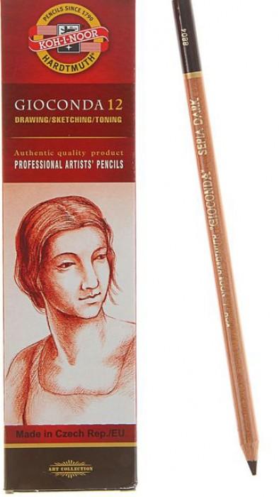 Сепия KOH-I-NOOR коричневая темная Gioconda карандаш 175х5,6