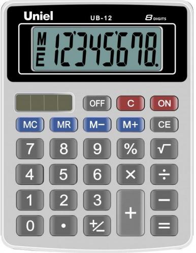 Калькулятор наст. Uniel UB-12K  8-разр. 126*95мм