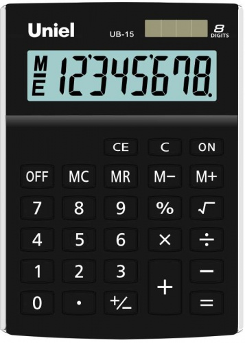 Калькулятор наст. Uniel UB-15K  8-разр. 145*105мм