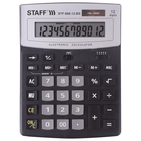 Калькулятор наст. Staff STF-888-12-BS 12-разр. 200*150мм черный