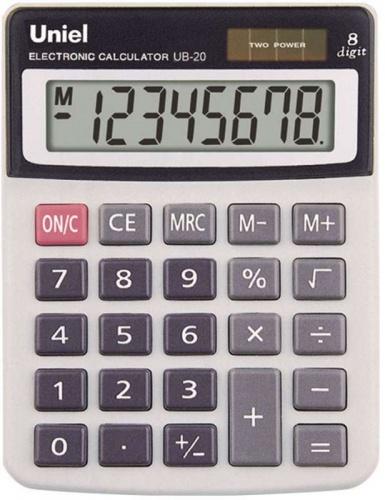 Калькулятор наст. Uniel UB-20  8-разр. 131*100*27 мм
