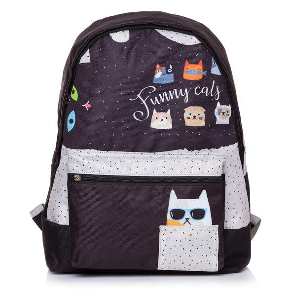 """Рюкзак Хатбер BASIC """"Funny cats"""" 1 отделение 1 карман"""