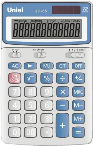 Калькулятор наст. Uniel UD-35 12-разр. 176*107мм метал.