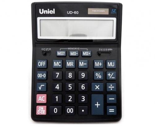 Калькулятор наст. Uniel UD-60 12-разр. 206*155мм