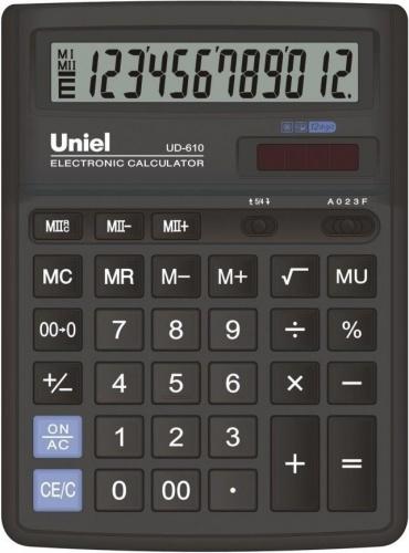 Калькулятор наст. Uniel UD-610 12-разр. 193*143мм