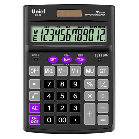 Калькулятор наст. Uniel UD-70 12-разр. 190*137мм
