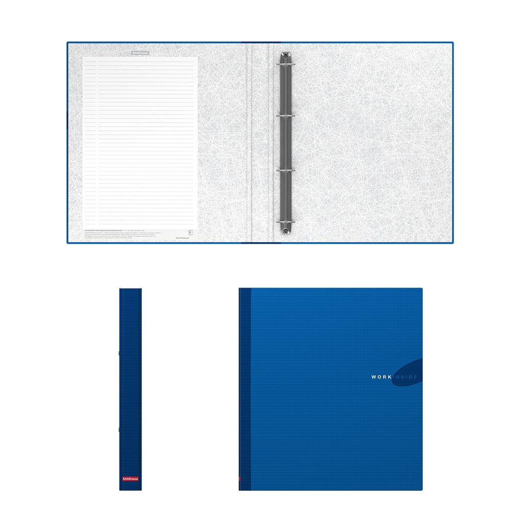Папка регистр. ErichKrause Work inside 35мм картон синий