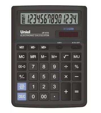 Калькулятор наст. Uniel UF-610 14-разр. 193*143мм