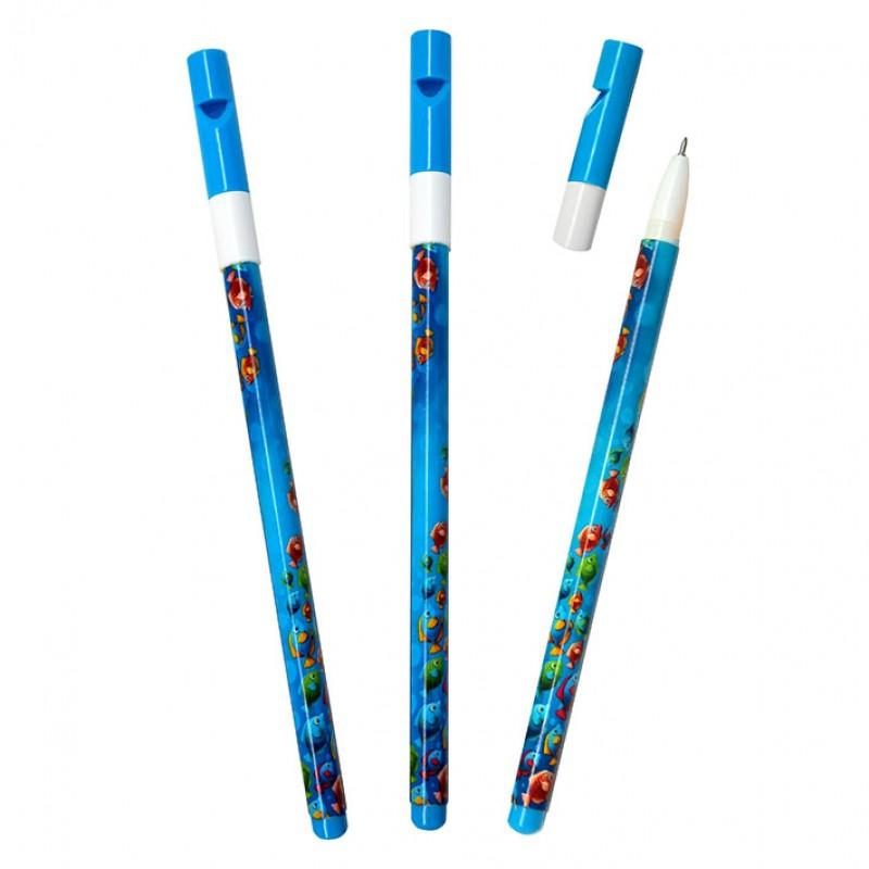 "Ручка J.Otten ""Рыбки"" 0,5мм колпачок со свистком"