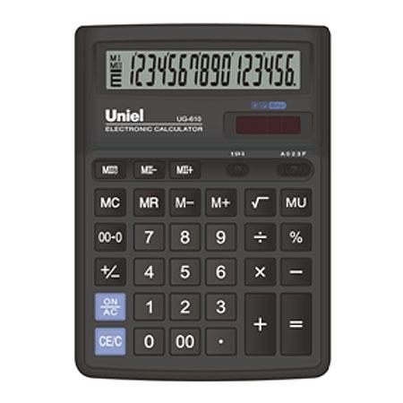 Калькулятор наст. Uniel UG-610 16-разр. 193*143мм