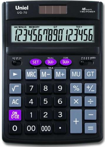 Калькулятор наст. Uniel UG-70 16-разр. 190*137мм