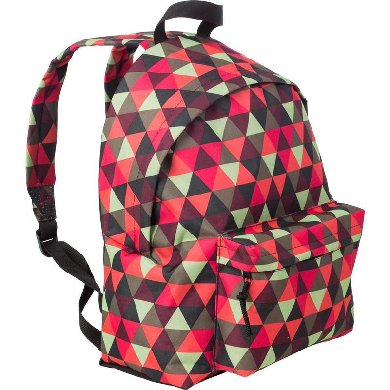 Рюкзак №1School красно-зеленые треугольники 1 отделение 1 карман