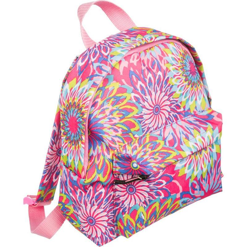 Рюкзак детский №1School Цветы разноцветный 1 отделение 1 карман