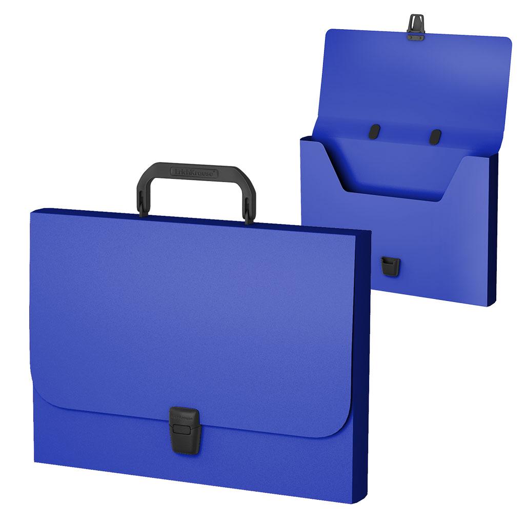 Портфель пласт. ErichKrause А4 Classic синий