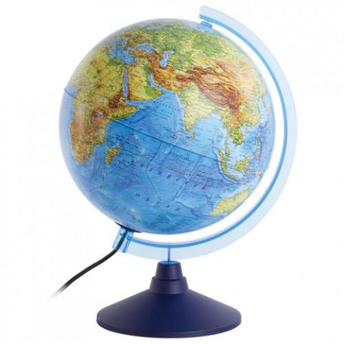 Глобус интерактивный физико-политический 250мм с подсветкой