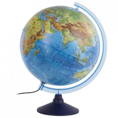 Глобус интерактивный физико-политический 320мм с подсветкой