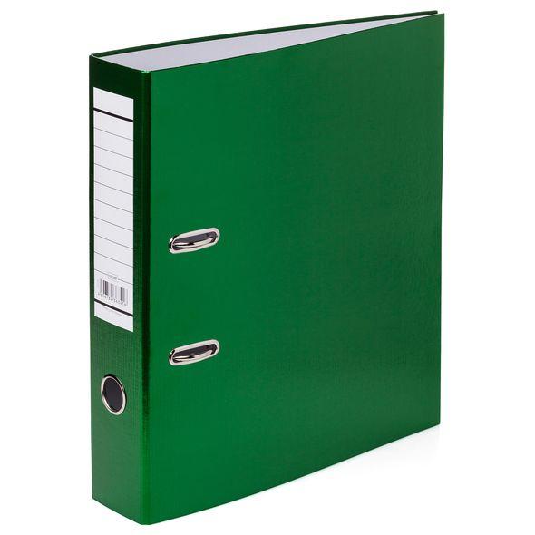 Папка регистр. Хатбер 70мм бумвинил METALLIC зеленая