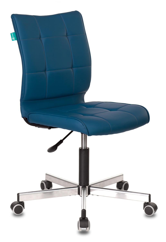 Кресло Бюрократ CH-330M/OR-03 б/подлокот. иск.кожа синий