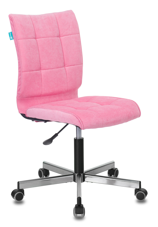 Кресло Бюрократ CH-330M/VELV36 б/подлокот. розовый крестовина металл