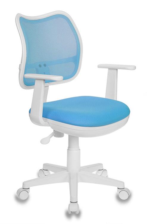 Кресло детское Бюрократ CH-W797/LB/TW-55 голубой пласт.белый