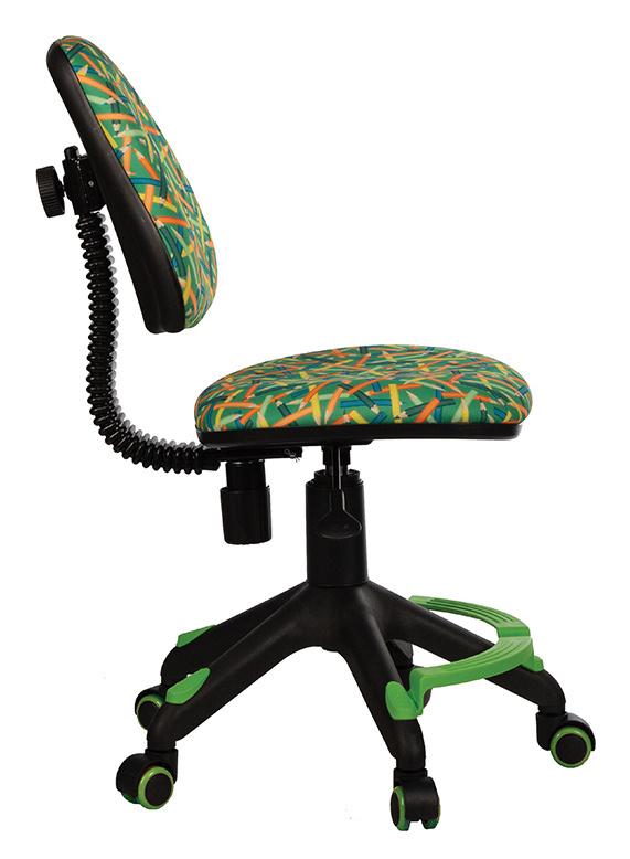 Кресло детское Бюрократ KD-4-F/PENCIL-GN зеленый карандаши с подставкой для ног
