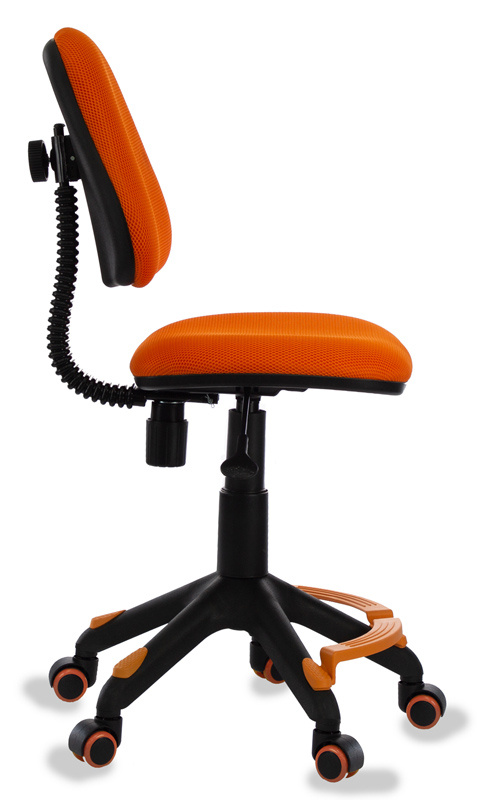 Кресло детское Бюрократ KD-4-F/TW-96-1 оранжевый с подставкой для ног