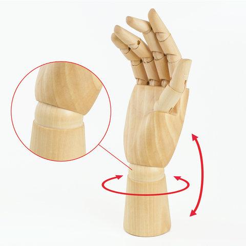 """Модель """"рука"""" 25см женская правая дерево"""