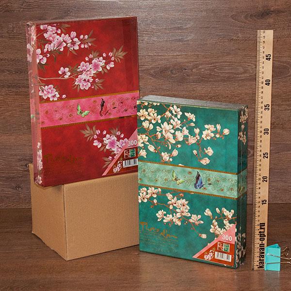 фотоальбом 300 фото цветы в боксе 23*33см. 2вида