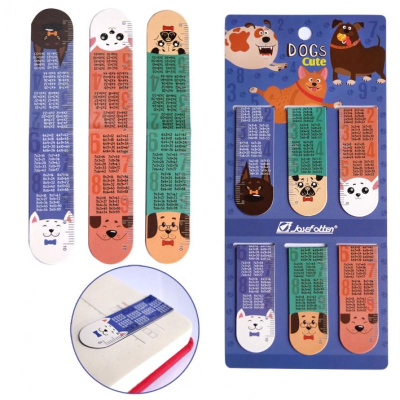 """Закладка-магнит набор 6шт. """"Таблица умножения. Собачки"""""""
