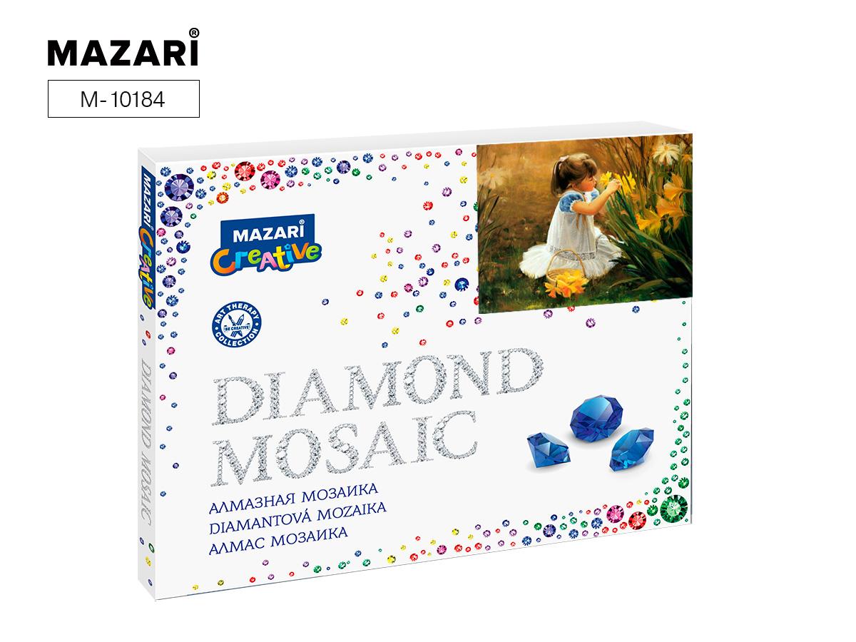 Алмазная мозаика полная выкладка 40*50см Девочка с цветами