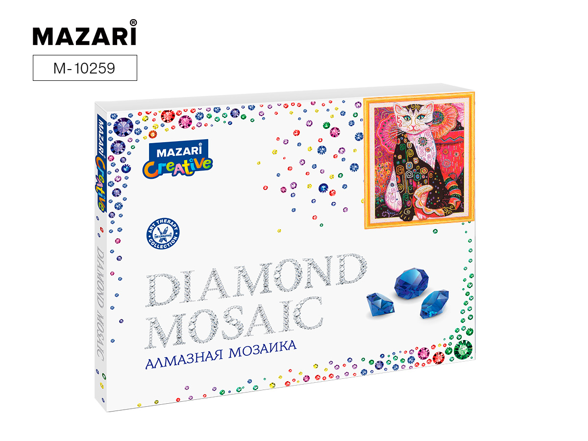 Алмазная мозаика 40*50см Сказочный кот1 частичная выкладка