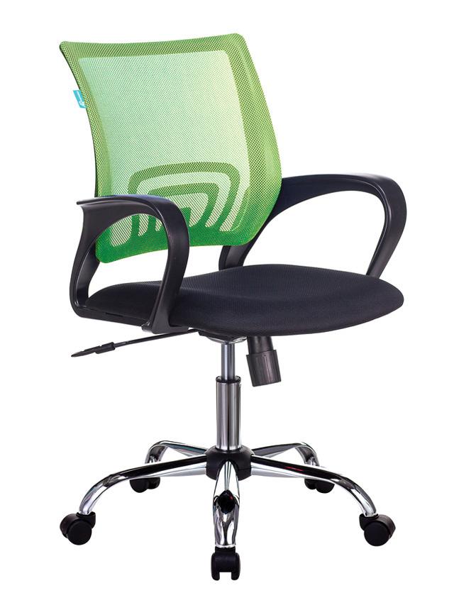 Кресло Бюрократ CH-695N/SL/SD/TW-11 салатовый сид. черн.