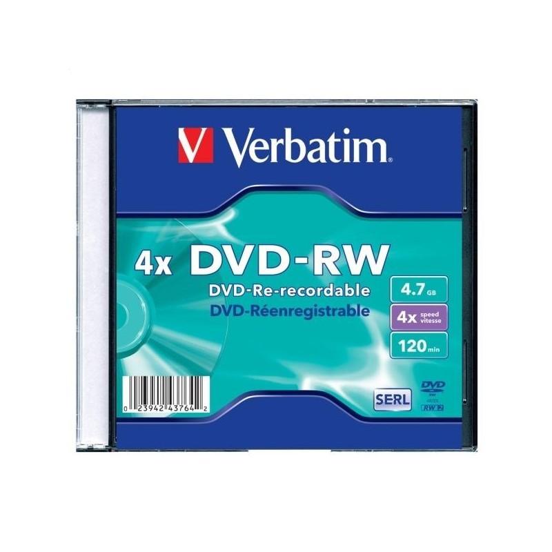 Диск DVD-RW Verbatim 4x (Slim)