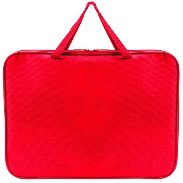 Папка менеджера А3 Пчелка ткань красная