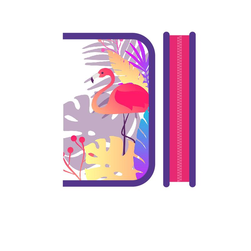Пенал 1отд. Пчелка 200*130 Soft Яркий фламинго