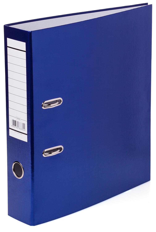 Папка регистр. Хатбер 70мм бумвинил METALLIC синяя