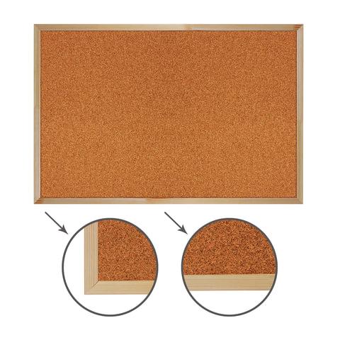 Доска пробковая Brauberg 60*90см деревянная рамка