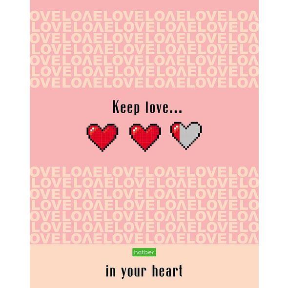 "Тетр. 80л Хатбер ЕСО ""LOVE IS...."""